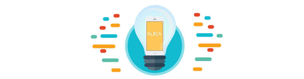 Website on a smartphone in a lightbulb