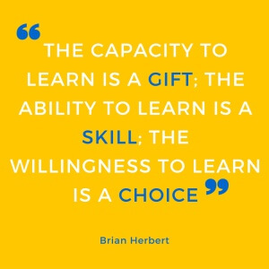 Quote: ability to learn